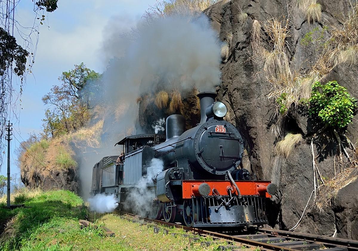 Туристический поезд на Шри-Ланке