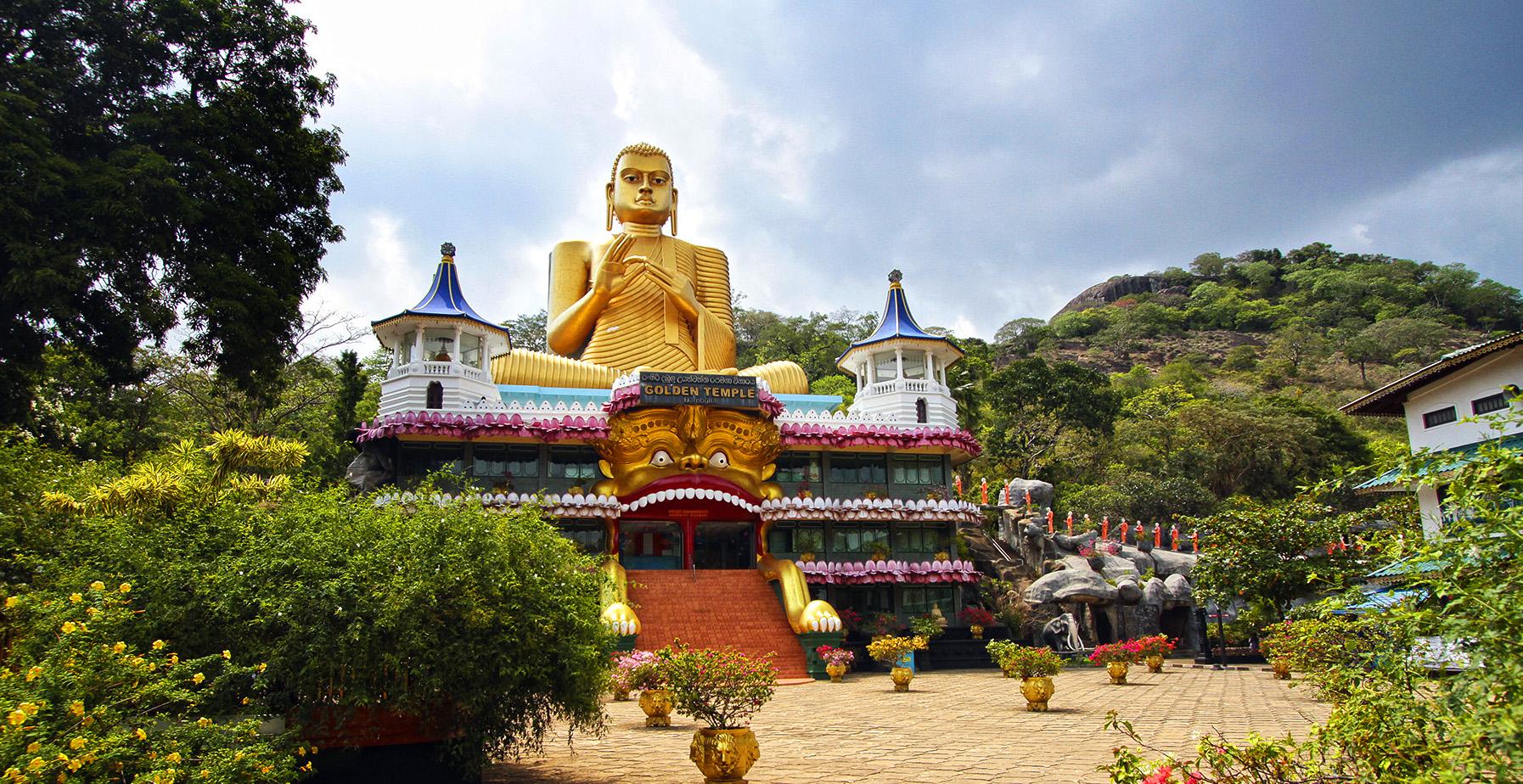 Храм Дамбулла на Шри-Ланке
