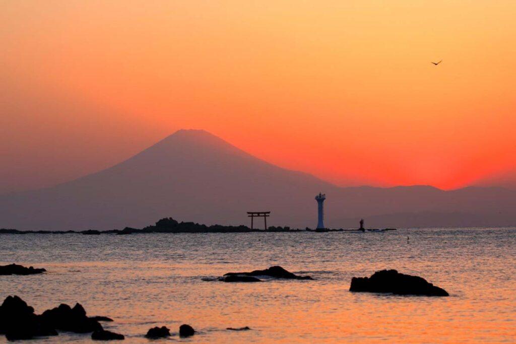 Пляж в Камакуре Morito Beach, Япония