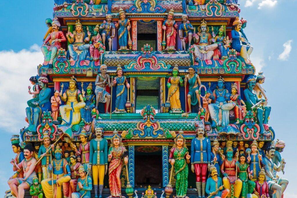 Индуистский храм в китайском квартале Сингапура
