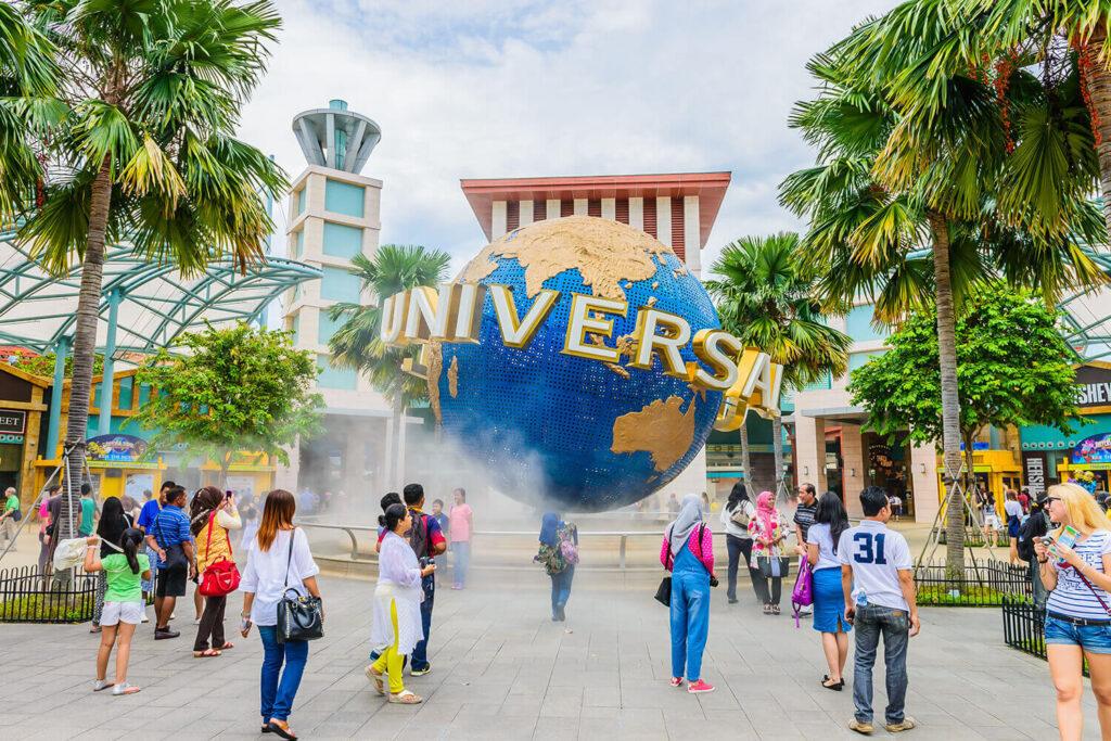 Развлечения для туристов на острове Сентоза в Сингапуре
