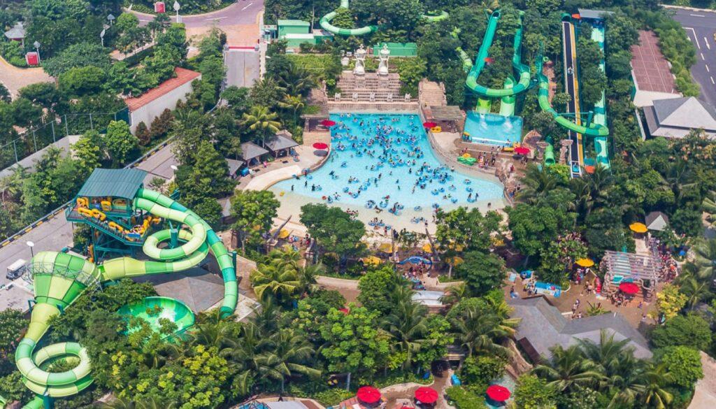 Аквапарк на острове Сентоса в Сингапуре