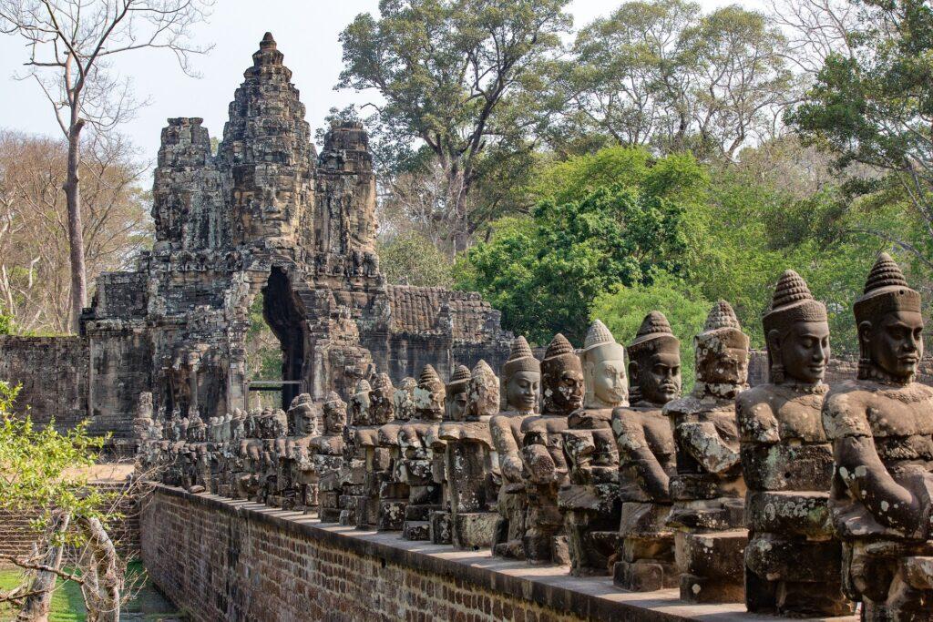 Башня Ангкор-Тхом в Ангкор Ват, Камбоджа