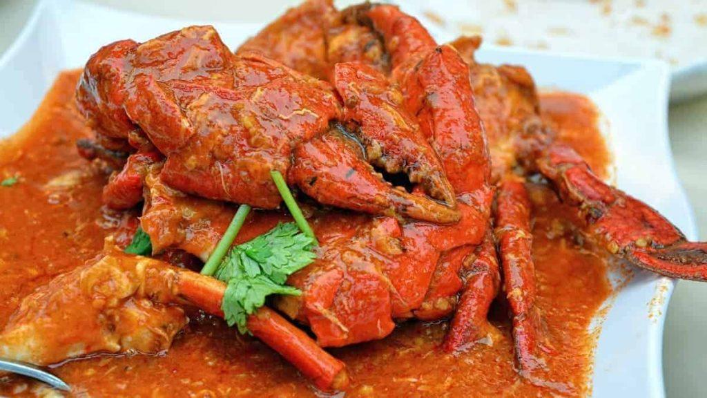 Национальное блюдо в Сингапуре - чили краб