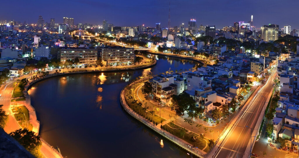 Ночной Хошимин, Вьетнам