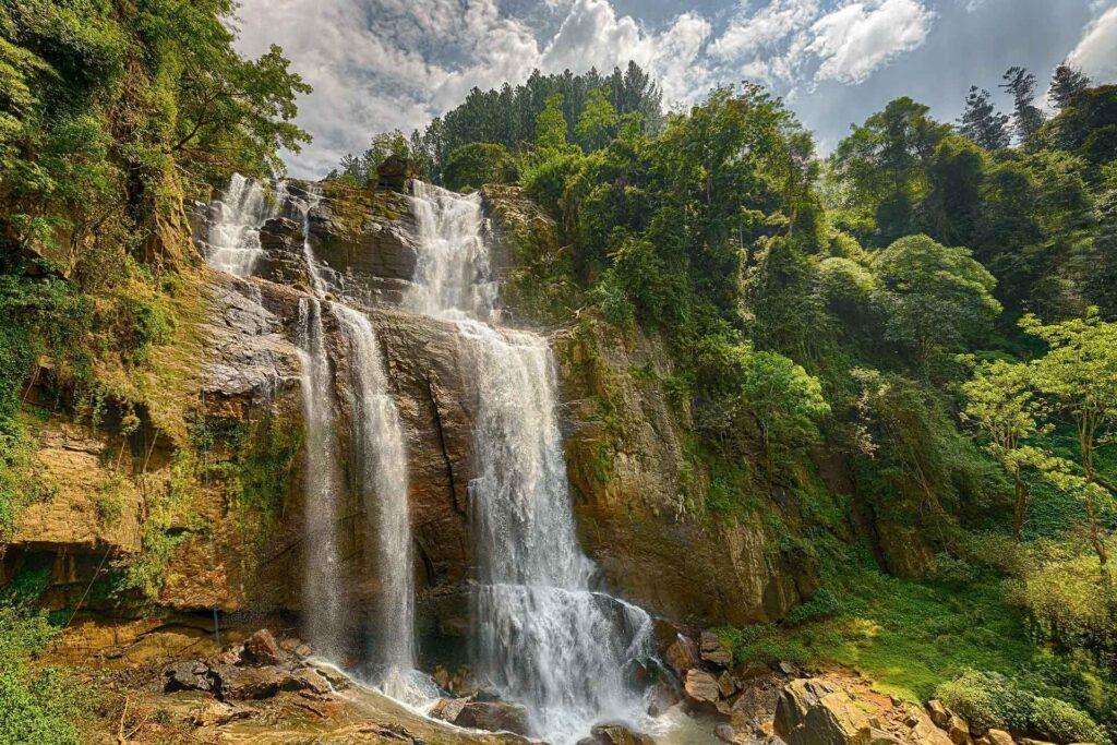 Водопад Ramboda Falls на Шри-Ланке