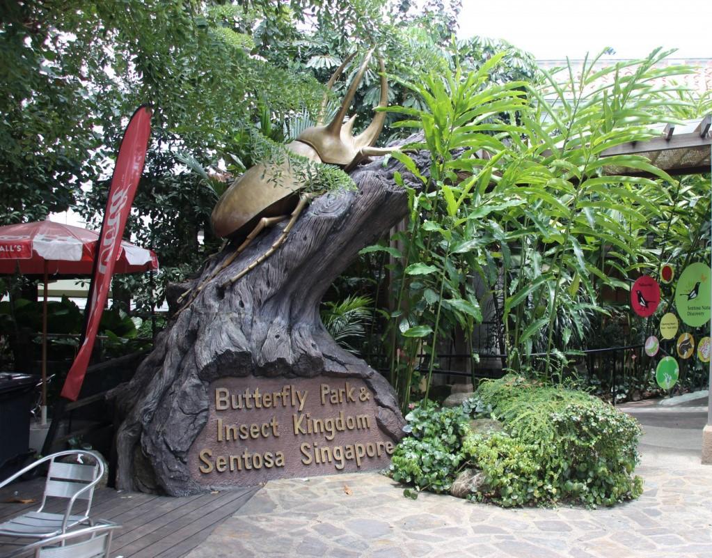 Парк Бабочек Сентоса Сингапур