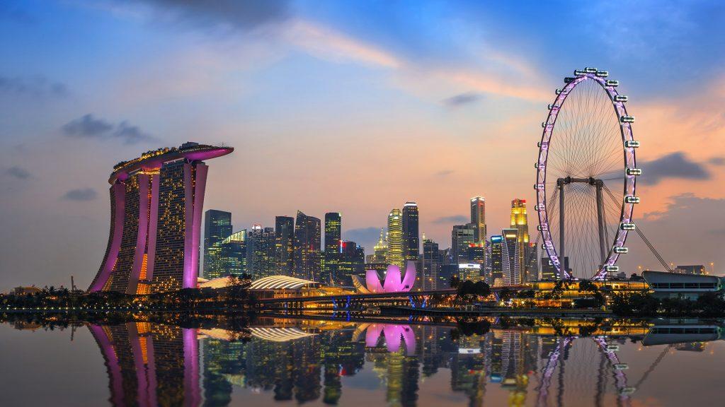 Колесо обозрения в Сингапуре Singapore Flyer