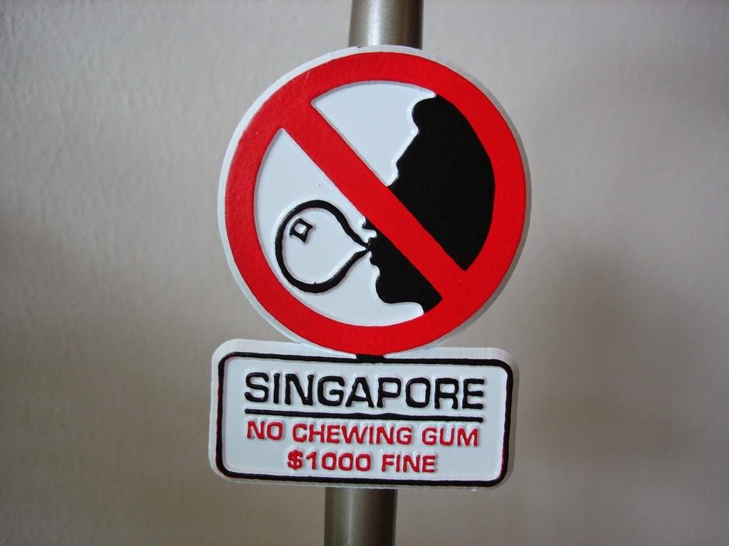Запреты для туристов в Сингапуре
