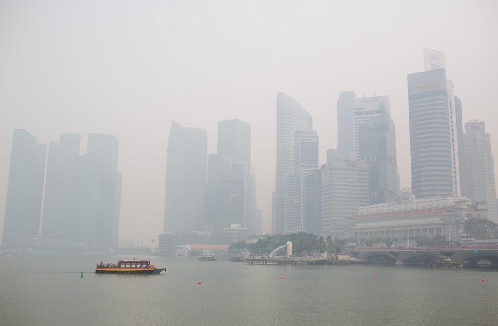 Сезон дождей в Сингапуре