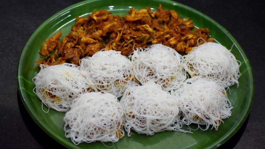 Традиционная еда Шри-Ланки - стринг хопперс