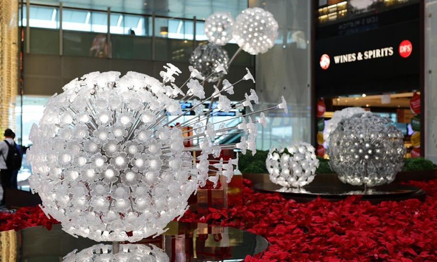 Хрустальный сад, аэропорт Чанги