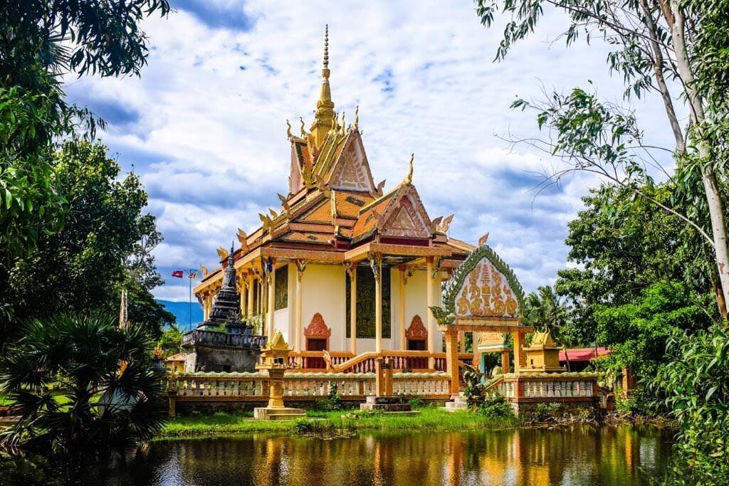 Город Кампот в Камбодже